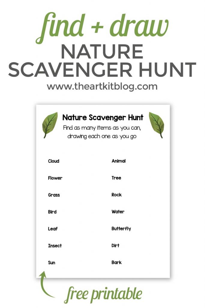 nature scavenger hunt free printable the art kit pinterest 2