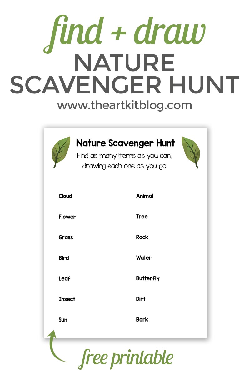 It's just a picture of Slobbery Nature Scavenger Hunt Printable