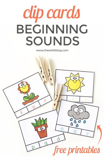 Beginning Sounds Clip Cards {Free Printables}