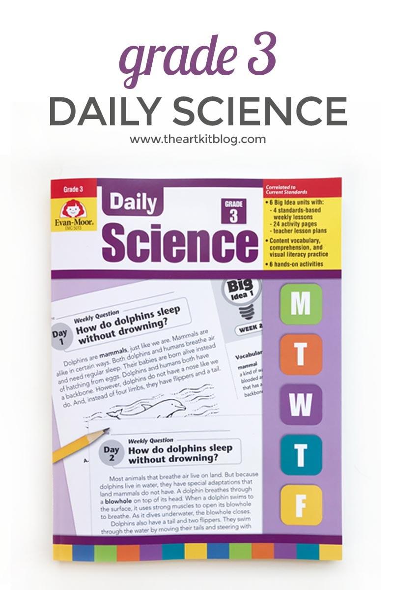 Review: Evan-Moor Daily Science Grade 3 - The Art Kit