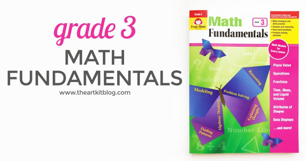 Review: Evan-Moor Math Fundamentals Grade 3 - The Art Kit