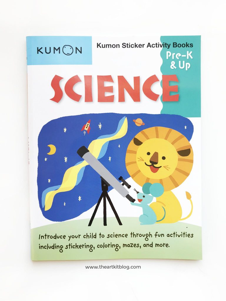 science book review kumon sticker pre k kindergarten homeschool