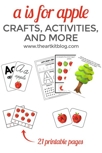 a is for apple printable bundle preschool pinterest