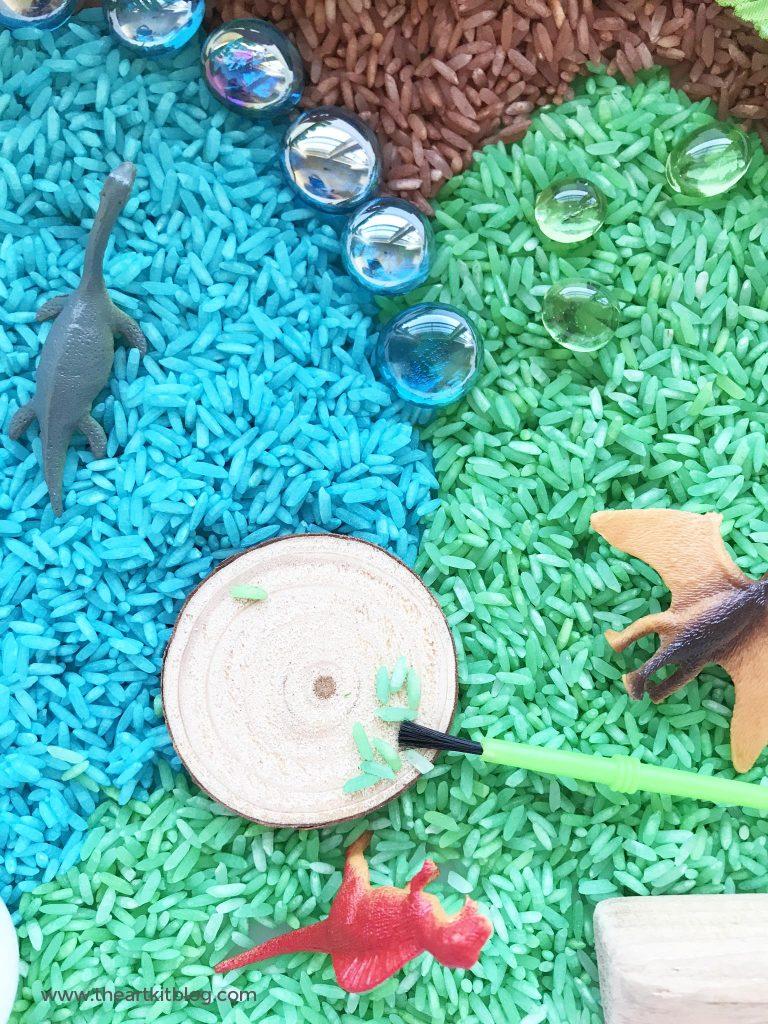dinosaur rice sensory kit image picture pinterest