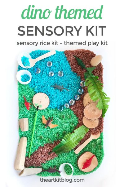 Dinosaur Themed Sensory Rice Kit