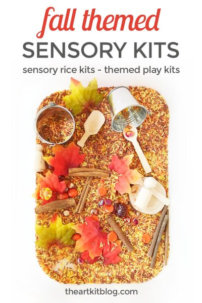 Fall Themed Sensory Rice Kit