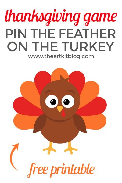 Pin the Feathers on the Turkey – Fun Thanksgiving Game {Free Printable}