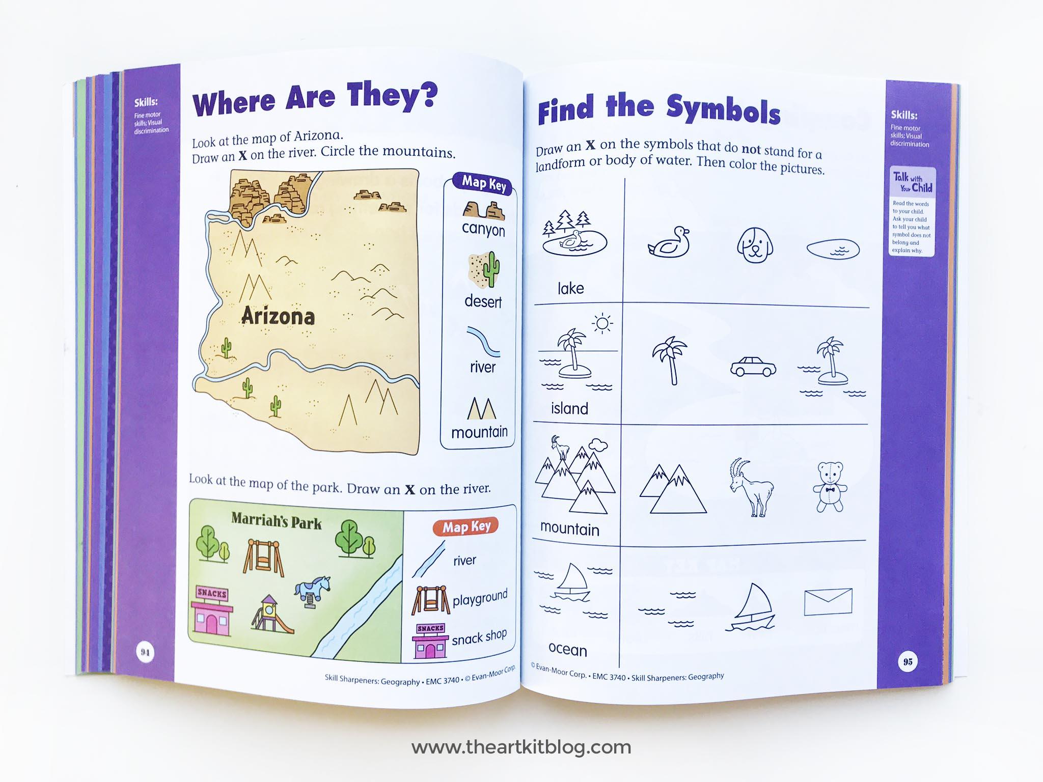 skill sharpeners geography evan moor kindergarten review