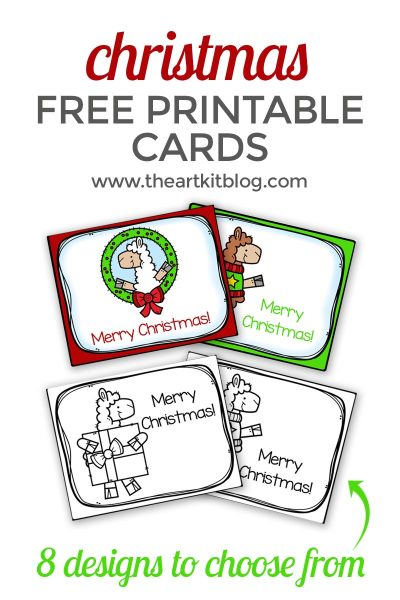 Adorable Llama Christmas Cards for Kids {Free Printables}