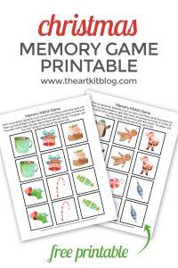 christmas memory match game printable pinterest