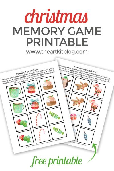 christmas memory match game printable pinterest