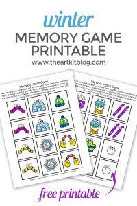 winter memory match game printable pinterest