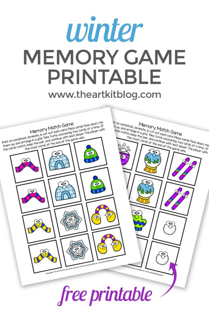 graphic regarding Printable Memory Game named Winter season Memory Video game Video game Cost-free Printable - The Artwork Package