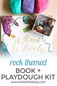 a rock is lively playdough kit kids book review craft pinterest
