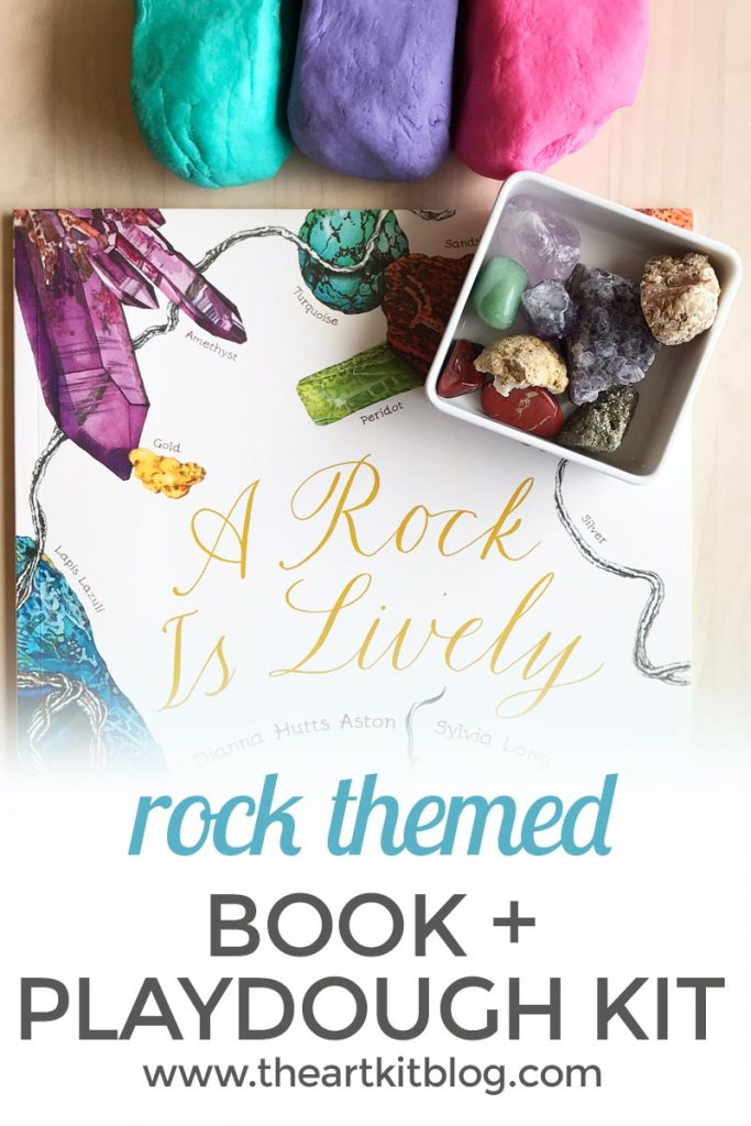 a rock is lively playdough kit kids book review craft pinterest