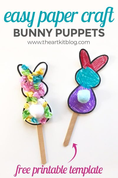 Cute Bunny Paper Craft {With Free Printable Template}