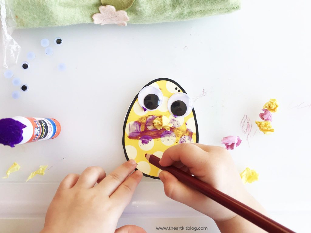 easy spring craft for kids with free printable template