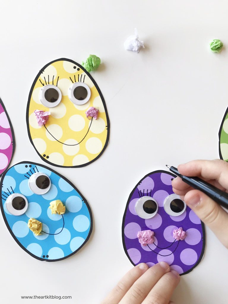 fine motor skills craft for kids spring