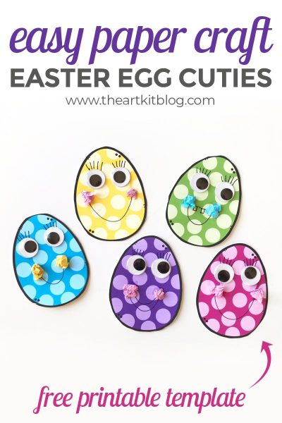 Easter Egg Cuties – Egg Paper Craft {With Free Printable Templates}