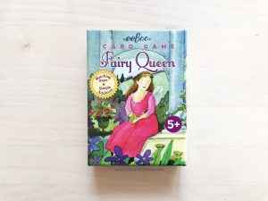 Simple and fun matching card game for chidren review. Match pairs and practice simple addition and skip counting by 2's and 5's with eeboo's gorgeous fairy queen game.