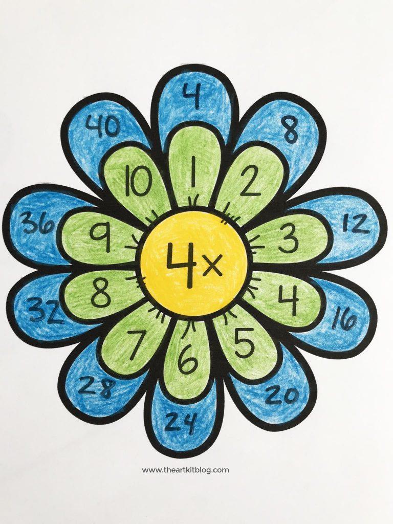 multiplication worksheets waldorf flower