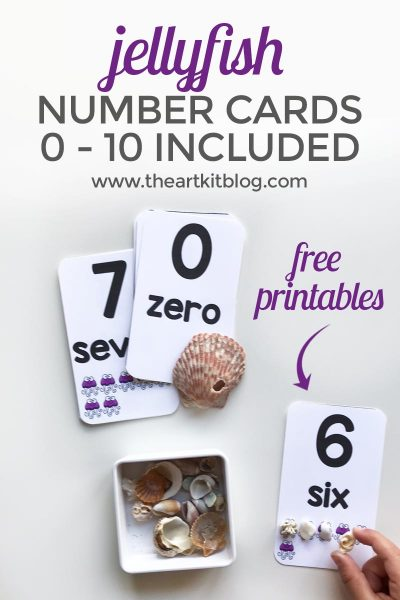 number dot cards jellyfish ocean counting 0 to 10 printable kids free pinterest