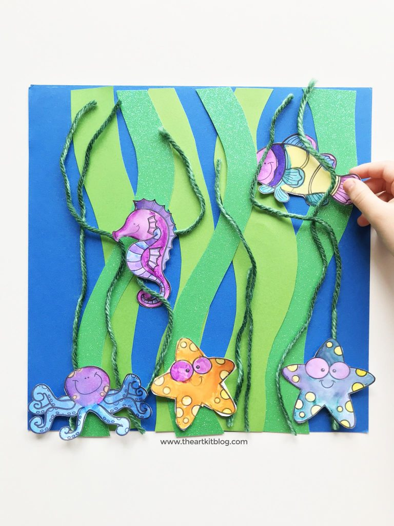 kelp forest ocean animal craft free printable kids