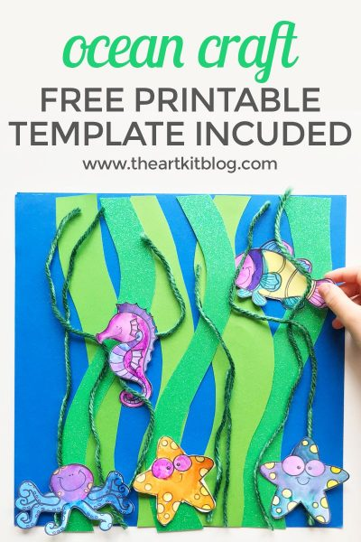ocean craft kelp printable sea animal PINTEREST