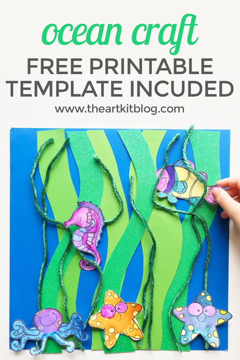 Kelp Forest Ocean Craft With Free Printable The Art Kit