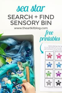 starfish sensory bin search and find sea ocean activity kids pinterest