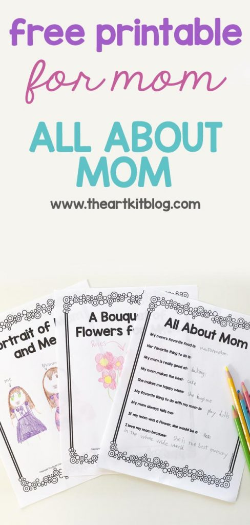 graphic regarding All About Grandma Printable titled All Relating to Mother - No cost Printable for Little ones toward Offer you - The Artwork Package