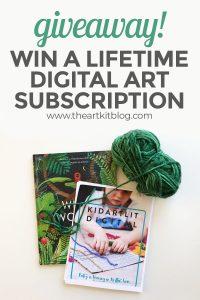 kidartlit giveaway digital book art subscription kids lit pinterest