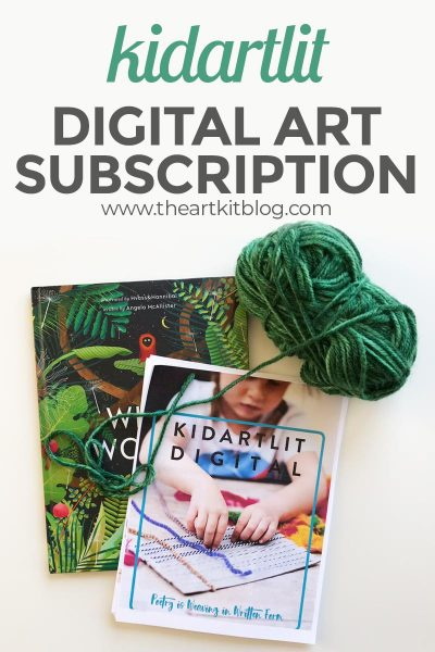 KidArtLit digital subscription review- book art for kids #kidartlit #theartkit #subscriptionsforkids #review #artforkids