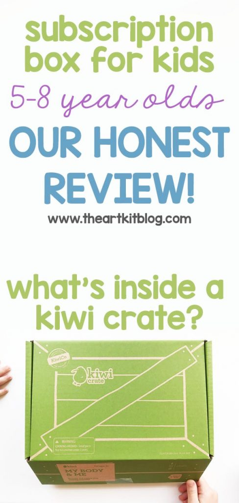 KiwiCo Kiwi Crate subscription box review for kids 5-8 body kit. What's inside a kiwi crate.
