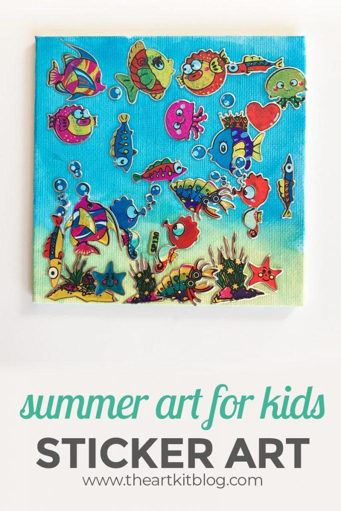 Ocean Sticker Art For Kids Great For Preschoolers And Older Kids