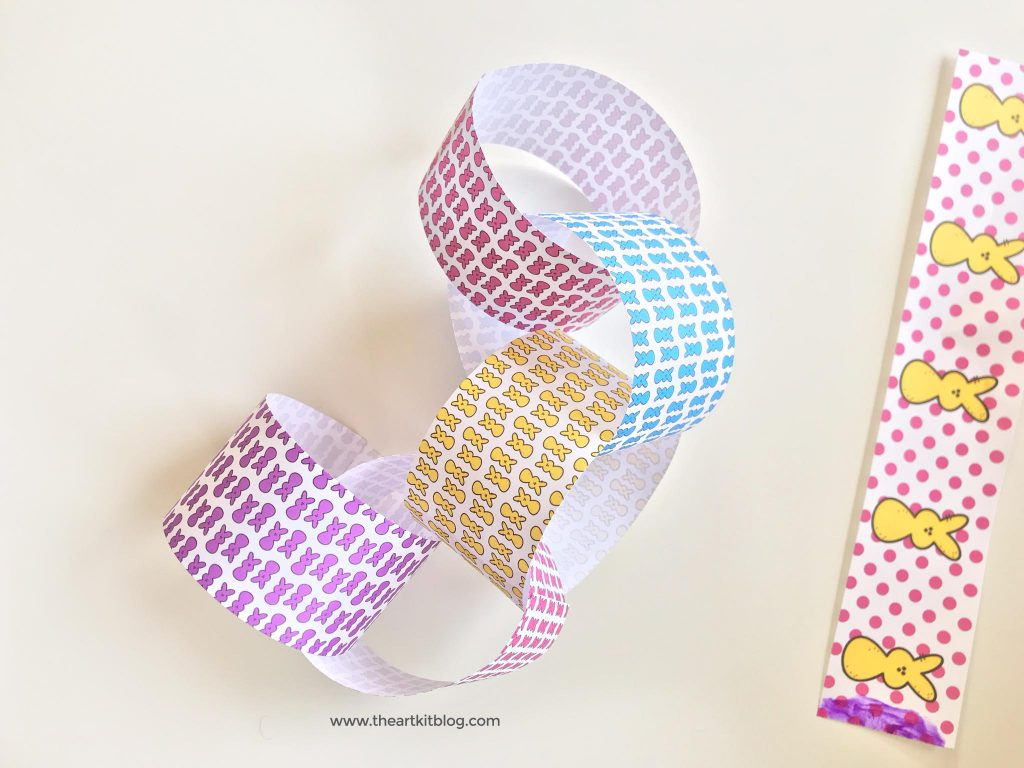 free printable peeps craft gluing cutting preschool