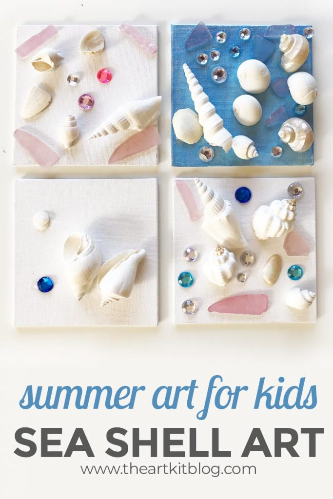 summer art for kids sea shell art project