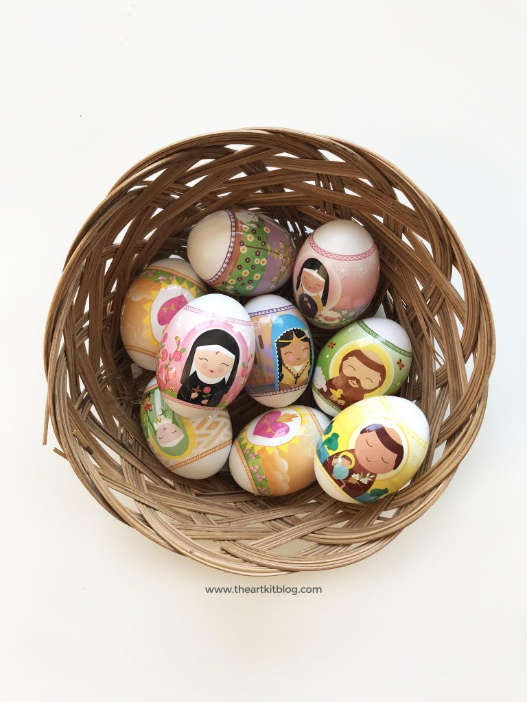Wooden Easter egg easy diy using Easter egg wraps from Shining Light Dolls