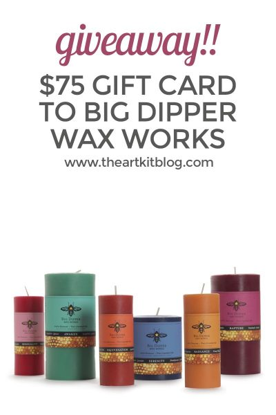 BIG DIPPER WAX WORKS GIVEAWAY PINTEREST CANDLE COMPANY BEESWAX