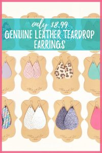 leather earring sale
