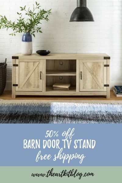 barn door tv stand free shipping sale