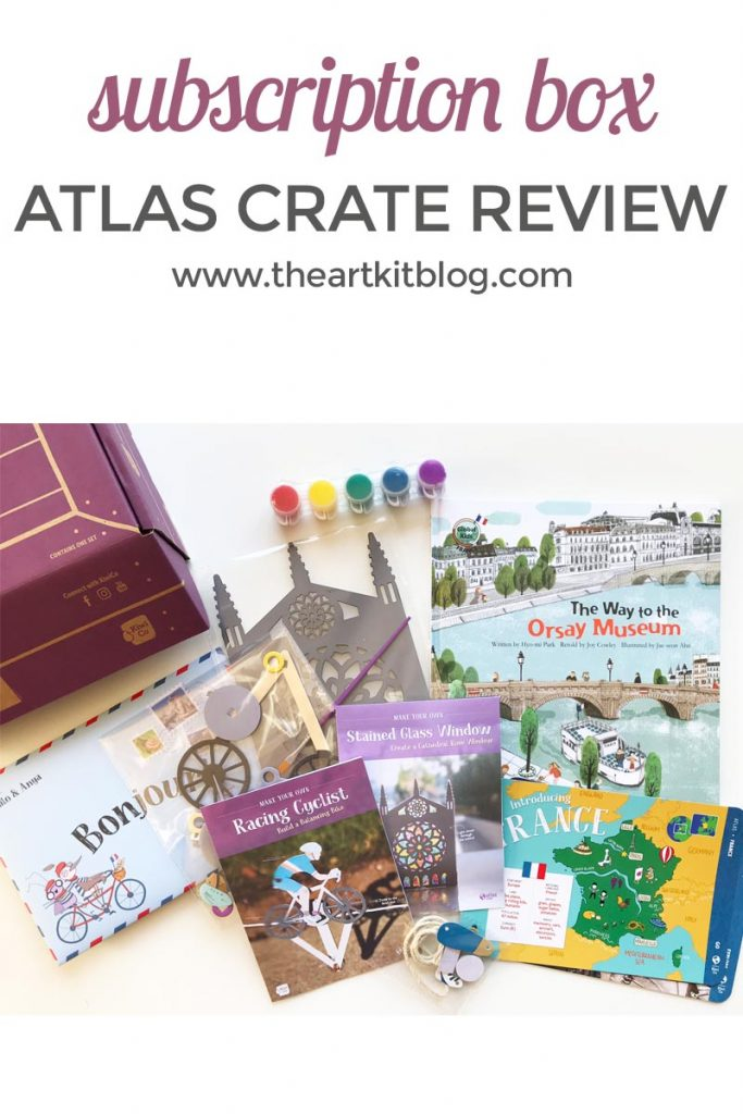 KiwiCo's Atlas Crate review. A subscription box for kids that teaches geography, history, and art in a fun way! Learn about a new country each month with Atlas Crate from Kiwi Crate.