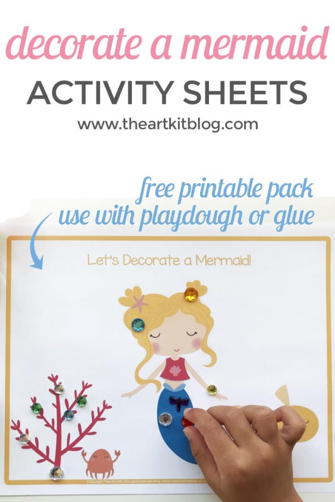 photo relating to Printable Mermaid Pictures identified as Mermaid Match Sheets for Little ones Totally free Printable Pack - The