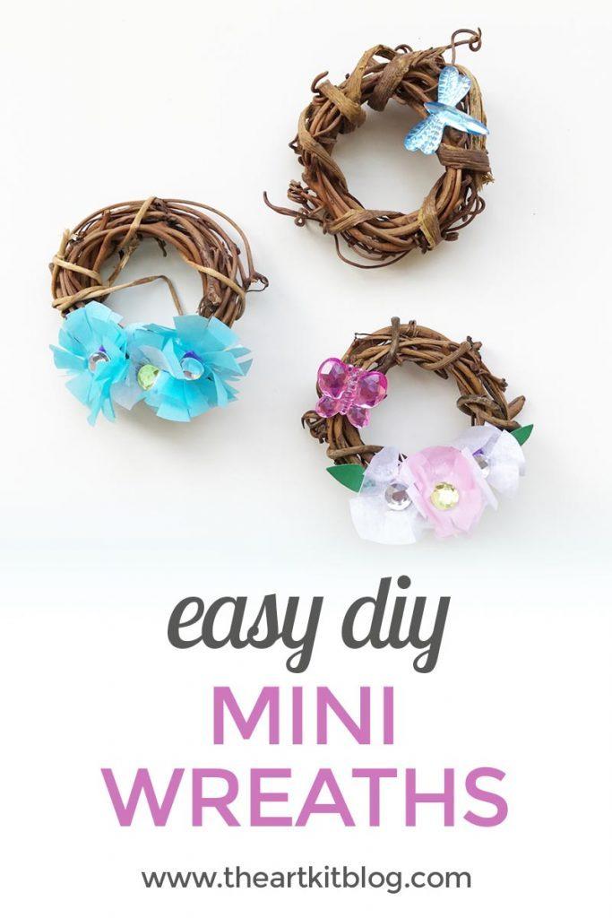 mini grapevine wreaths diy mothers day gift mom