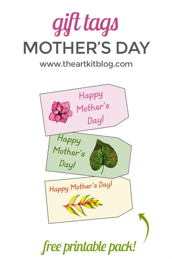 graphic about Free Printable Mothers Day Tags named Moms Working day Present Tags Totally free Printables - The Artwork Package