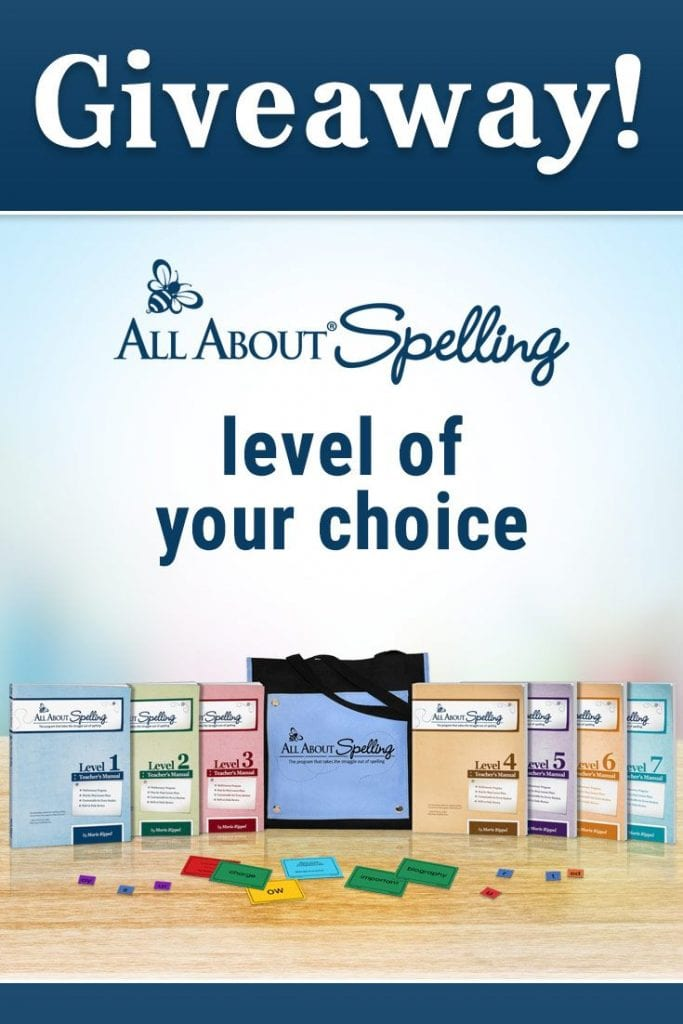 all about spelling giveaway