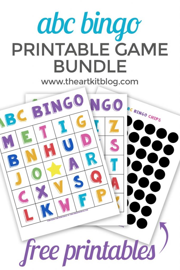 photograph regarding Printable Bingo Chips referred to as Alphabet Bingo Video game No cost Printable Pack! - The Artwork Package