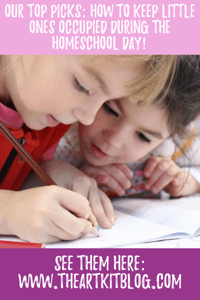 how to keep little ones occupied during homeschool day
