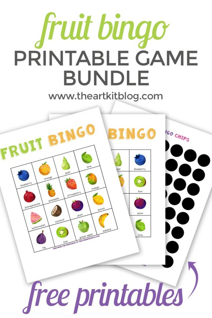 picture about Printable Bingo Chips named Fruit Bingo Match Totally free Printable Pack! - The Artwork Package