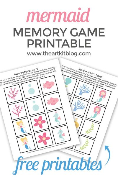 mermaid-memory-match-game-printable-PINTEREST-free-printable-game-for-kids-popular